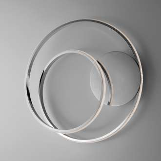 Applique Moderno con Led Integrato Metallo e Alluminio Cromo Serie Spira