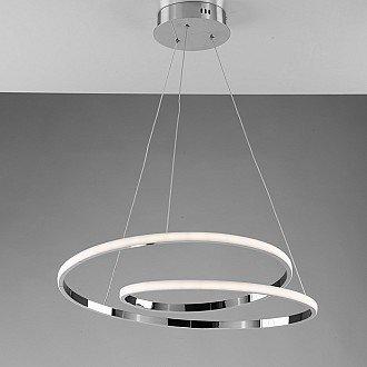 Sospensione Moderna con Led Integrato Metallo e Alluminio Cromo Serie Spira