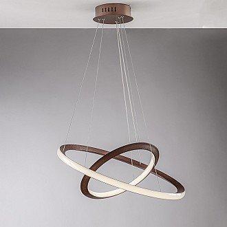 Sospensione Moderna Luce Led Integrata Metallo Laccato Marrone Serie Icona