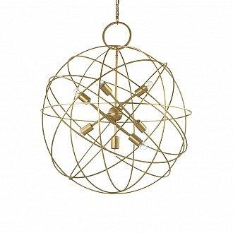 Lampada A Sospensione 7 Luci Konse In Metallo Oro
